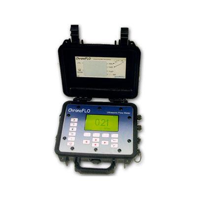 Caudalímetro ultrasónico portátil de tempo de trânsito